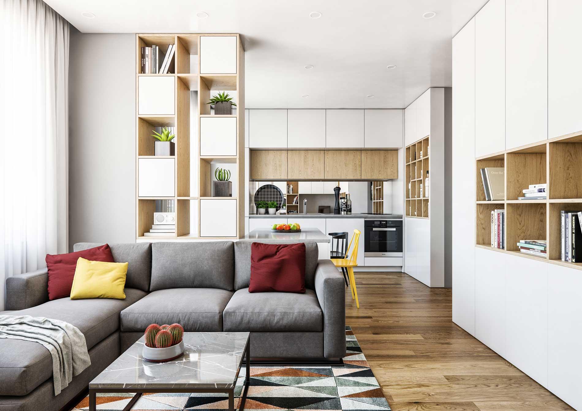 Проект за дизайн на апартамент - функционално разпределение